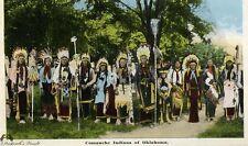 Vintage Comanche Chiefs with Quanah Parker Postcard