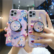 For IPhone 11 Pro XS Max XR 7 8+ Cute Cartoon Duffy Stellalou stand Holder Case