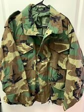 US Army Cold Weather Field Coat, Woodland Camouflage pattern, Size Large Short