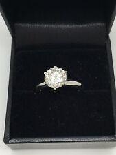 2.08 Diamond Solitaire Platinum Ring