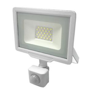 Projecteur LED Extérieur 20W IP65 BLANC avec Détecteur de Mouvement Crépusculair