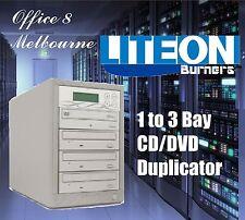 BRAND NEW 1 to 3 CD DVD Duplicator Tower LiteOn Burners 3 Bay CD DVD Duplicator
