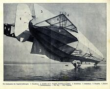 Die Konstruktion des Zeppelin- Luftkreuzers Hauptsteuer Seitliche und Ver...1909