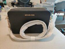 Michael Kors Jet Set Item Large East West Crossbody Chain Handbag Clutch - Black