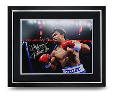 Manny Pacquiao Signed Photo Large Framed Display Boxing Autograph Memorabilia