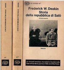 STORIA DELLA REPUBBLICA DI SALO' 2 VOLUMI EINAUDI (5213)