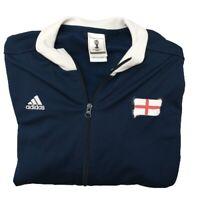 "Adidas Men's Large Blue England FIFA World Cup Brazil ""Cmon"" Soccer Jacket"