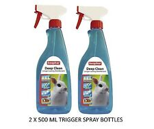 2 X 500ML BEAPHAR DEEP CLEAN SMALL ANIMAL HUTCH CAGE DISINFECTANT GERM CONTROL
