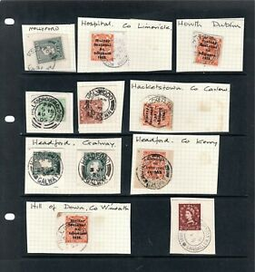 Ireland - Old Stamps and Postmarks - Letter H- I x 11