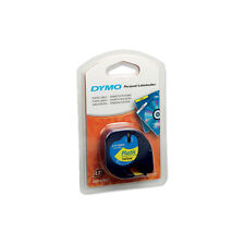 Dymo LetraTag Tape 12mm Plastic Yellow S0721620