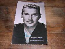 1955.autographe raymond Girerd. chanson