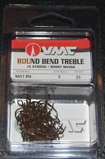 VMC 9651 Short Shank Treble Hooks Size 5 - Pack of 25 9651BN-05 Black Nickel