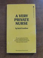 A VERY PRIVATE NURSE -Jack Gunther 1970 vintage paperback 1st pulp sleaze erotic