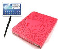 Funda protectora para Samsung Galaxy Tab 3 10.1, cuero sintético bolso case cómic Sweet Pink