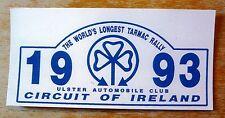1993 Circuit of Ireland Rally Motorsport Sticker Decal