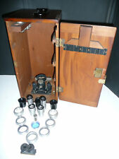 Bausch & Lomb Microscope Accessories with antique case
