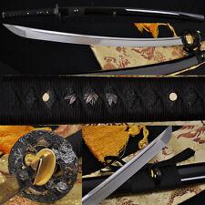 1060High Carbon Steel Full Tang Blade Japanese Samurai Battle Ready Dragon Sword
