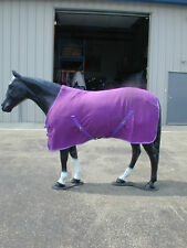 "Horse Fleece Cooler /  Blanket Liner  66"" Royal"