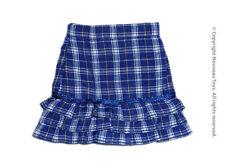 1/6 Phicen, Hot Toys, Kumik, Cy Girl, ZC & NT - Female Blue Checkers Frill Skirt
