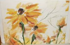 TOM FONG ORIGINAL WATERCOLOR FLORAL PAINTING LISTED
