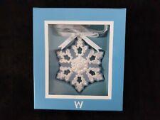 Wedgwood Pierced Snowflake Blue & White Ornament With Box