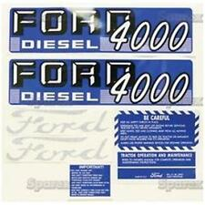 FORD 4000 4 CYL DIESEL 1962 - 1964 TRACTOR REPLACEMENT DECAL SET KIT 67697
