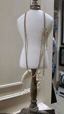Vintage Chanel Gold Plated Double Creme CC Multi Chain Belt / Necklace