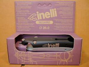 New-Old-Stock Cinelli Sesamo Stem...Black/Silver Finish w/Silver Decals (120 mm)
