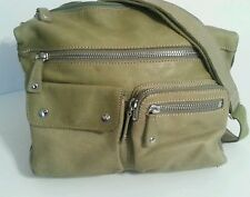 Womens Fossil Sutter Green Leather Convertible Shoulder Crossbody Bag Hobo Purse