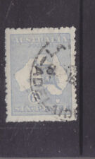 AUSTRALIA-1915-6d KANGAROO (MILKY BLUE COLOUR VARIETY)-NCA W/M-F/U-$10-freepost