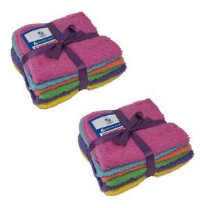 12 pcs Mixed 100% Cotton hotel Wash Cloths 11x11 Washcloth Face Towel 1 Dozen
