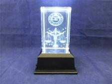 More details for crystal 3d laser block zodiac sign libra october and white light producing base.