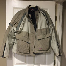 First Gear TPG Women's Motorcycle Jacket XXL 2XL Beige & Grey Removeable Liner
