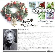 5 NOVEMBER 2002 CHRISTMAS BENHAM FIRST DAY COVER SIGNED THELMA BARLOW