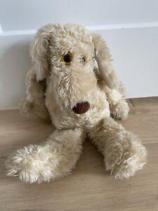 "Vintage Le Mutt Francesca Hoerlein 18"" Stuffed Plush Tan Puppy Dog Yellow Eyes"