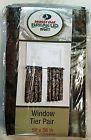 """MOSSY OAK BREAK UP INFINITY WINDOW CURTAIN PANELS WINDOW TIER PAIR 58"""" X 36"""" NIP"""