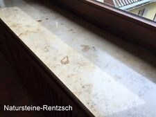 Fensterbank Sohlbank Sims Jura gelb 100x20x2cm poliert Marmorplatte Marmorbank