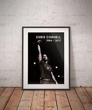Chris Cornell Soundgarden Audioslave Live Rock Legend Tribute Art Print Poster