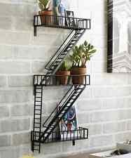Fire Escape Unique Vintage Industrial Metal Wall Shelf Shelving New Storage Unit