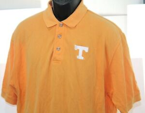 Vintage Tennessee Vols Volunteers Orange Velocity Polo Shirt Size Mens XL
