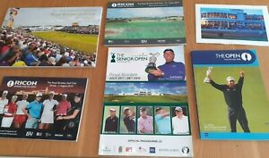 5 Souvenir Programmes from The Royal Birkdale Gold Club, 2008 - 2017,
