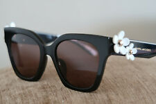 MARC JACOBS RX04 DESIGNER SUNGLASSES FOR WOMEN BLACK WHITE GOLD DAISIES A BEAUTY