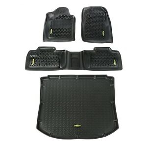 Outland 391298826 Black Floor Liners Kit for Jeep Grand Cherokee WK