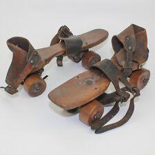 Vintage Wooden Roller Skates UNION HARDWARE CO.Torrington Conn