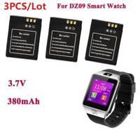 3Pcs 3.7V 380MAH Li-ion Polymer Battery Rechargeable For Smart Watch DZ09