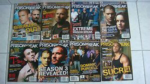 Collection série complète Collector prison break 8 revues The official magazine