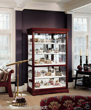 Howard Miller 680-235 Townsend -  Large Cherry Curio Display Cabinet