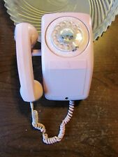 Rotary Phone Vintage Antique Light Pink Wall Mount RARE Side Hang Up GTE