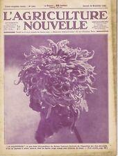 L'agriculture nouvelle n°1455 du 28/11/1925 Chrysanthème Autrèches Ferme Hayes