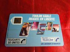 RARE TELECARTE - F 22 - TOULON CABLE - FONCTIONNELLE - Cote 420 € état courant